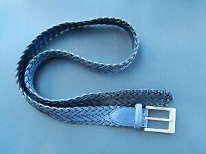 Brioni Snake Skin Braided Leather Belt Size 38 / 100cm O/A Length 120cm