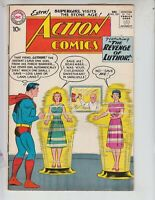 """Action 259 VG+ (4.5) 12/59 """"The Revenge of Luthor!"""" Red Kryptonite used!"""