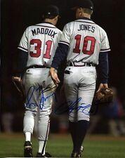 Greg Maddux & Chipper Jones Autographed 8x10 Photo Reprint Atlanta Braves