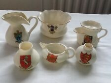 6 different makes of crested ware china (unfortunately one with a chip and crack