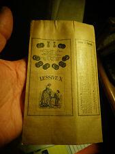 Ancien Paquet de Lessive X Parfumée Antiseptique Primée Nancy 1909 : etat neuf