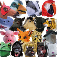 Full Head Rubber Animal Masks Cosplay Fancy Dress Party Costume Outift Stag Do