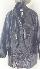 Lack/PVC Jacke,Mantel schwarz spiegel glanz material aal glatt, Gr.52