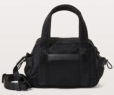 Lululemon Black Nylon & Mesh Zip Crossbody Bowling Purse Little Bag - AMAZING