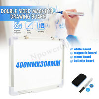 "12x16"" Wall Mountable Magnetic Whiteboard White Board w Marker Home Office"