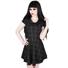 Killstar Gothic Goth Okkult Punk Minikleid - Darklands Doll Tartan Kariert