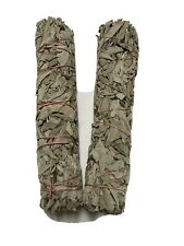 """9"""" Long 2"""" Wide Hand-wrapped California White Sage Smudge Stick 2 Pack Free Ship"""