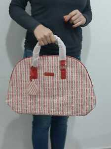 Trussardi Parfums Brand Bag for Woman  Hand Large Tote with Red Handles Zipper