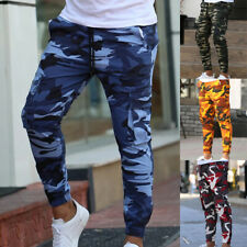 Mens Camouflage Camo Jogging Pants Tracksuit Bottoms Joggers Trousers Sweatpants