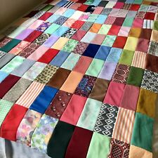 Vintage Hand Sewn Quilt Topper Unfinished All 60s/70s Polyester 78� x 51�