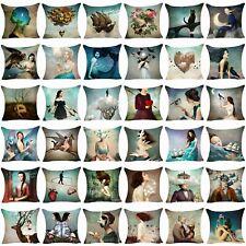 Christian Schloe Pillow Case Sofa Cushion Cover Throw Cotton Linen Pillow Cover