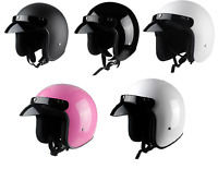 DOT Vintage Motorcycle Helmet Open Face Half Helmet Cruiser Scooter Street Bike