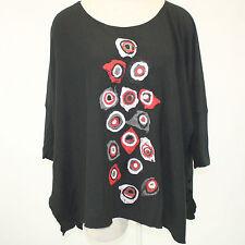 NWT N...P Naturalnie Podlasek Artisan Applique Tunic Sweater XXL fits 2X 3X  EU