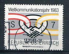 AUTRICHE, 1983, timbre 1560, ANNEE MONDIALES des COMMUNICATIONS, oblitéré