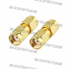 ADATTATORE CONNETTORE SMA FEMALE TO SMA FEMALE ADAPTER CONNECTOR COAXIAL GOLD RF