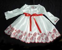 Guess Dress Fancy white with red embroidery 2-4 years old girls