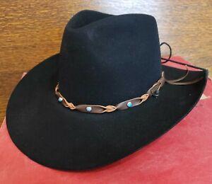 Vintage Stetson Black XXX Beaver Western Cowboy Hat Size 7 Original Box