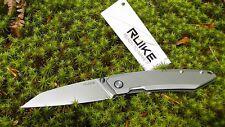 Couteau Ruike P831 EDC Steel Framelock Lame Acier 14C28N Manche Acier RKEP831SF