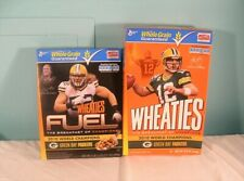 2 NFL Green Bay Packers Wheaties Boxes, 2010 World Champions, Rodgers & Matthews