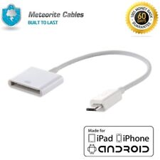 30 Pin Male to Micro USB Female Cable Adapter Converter for iPhone4 to Android W