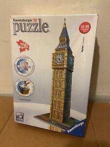 BNIB Big Ben London RAVENSBURGER 3D PUZZLE 216 pieces 41cm NEW & SEALED