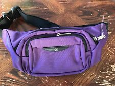 NEW Bum Bag Travel Outdoor Multifuctional Waist Belt Belly Bag Canvas Purple