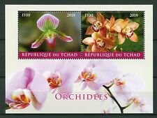 Chad 2018 CTO Orchids Orchid 2v M/S Orchidees Flowers Nature Stamps