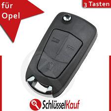 Opel 3 Tasten Klappschlüssel Gehäuse Corsa Tigra Zafira Astra Autoschlüssel Neu