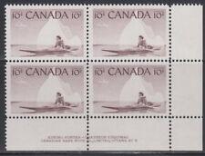 CANADA #351 10¢ Inuk & Kayak LR Plate #5 Block MNH