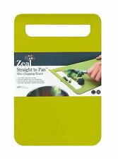 Zeal Straight to pan slim chopping boards GREEN LARGE 33.5 x 22.5 x 2 cm