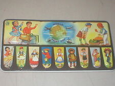 Vintage World Paint Box LL Products Tin Litho Watercolors Made in England