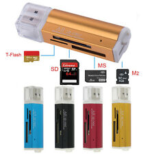 4 in 1 Usb 2.0 Multi Memory Card Reader for Micro Sd/Tf Mmc Sdhc Ms Memory Stick