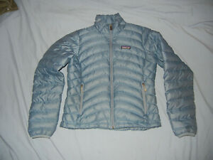PATAGONIA Women's down sweater jacket Blue SM zip up puffer quilted coat
