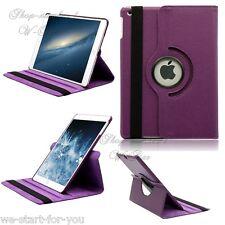 Neu! 360° iPad Air 5 Schutz Hülle+Folie Kunstleder Tasche Smart Cover Case Lila