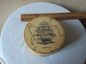 Vintage Signed Artek Pool Scrimshaw Save the Whale Collection 1977 trinket box
