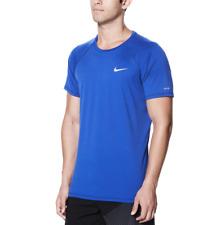 Mens Nike DRI-FIT Solid Hydroguard Swim Shirt -S, L, XL, 2XL Hyper Royal UPF40+