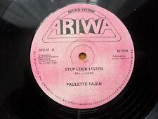 PAULETTE TAJAH / STOP LOOK LISTEN / ARIWA RECORDS