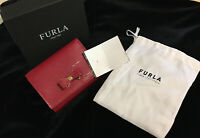 FURLA Summer Red Leather Trifold  Wallet NWT