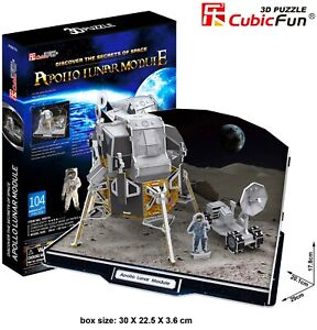 CUBIC FUN NASA Apollo Lunar Module Space 3D Puzzle DIY Model Building Kit Toy