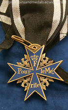 WW1 WW2 German Red Baron Prussian Royal Pour Le Merite Blue Max