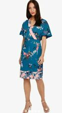 BNWT Phase Eight Peacock  Floral Print Wrap Dress UK 12 RRP £140