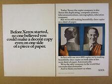 1973 XEROX 4000 Copier copy machine 'Copies on both sides' vintage print Ad