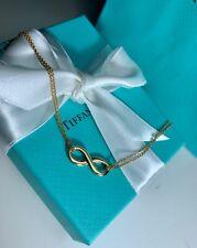 "Tiffany & Co. Infinity Double Chain 18K Gold Bracelet, 7"""
