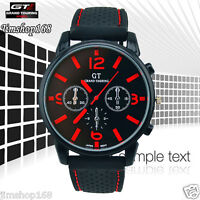 UK New Men Watch Stainless Steel Quartz Analog Wrist Watch Cool Sport GT Watches