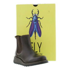 Fly London Salv Womens Casual Ankle BOOTS 001. DK Brown Lea 4 / 37