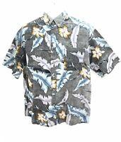Hawaii Blues Short Sleeve Hawaiian Button Up Casual Shirt Mens Large Regular VTG