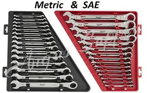 Milwaukee Max Bite Combination Ratcheting Wrench Combo Complete Set Sae & Metric