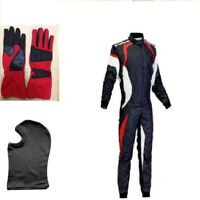Go Kart Race Suit  Red-Black-White -with Free Gift Gloves & Balaclava Offer