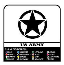 Adesivo STELLA per Jeep CJ CJ3 CJ5 CJ7 CJ8 US ARMY cm 35 stella militare 4X4