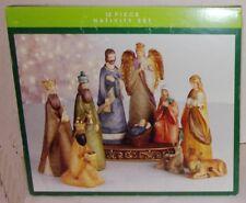 Vintage 12 Piece Nativity Set From North Pole Trading Company. New.